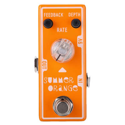 Tone City Summer Orange TC-T12 Phase EffEct Pedal Maxon 909 Style Ships Free