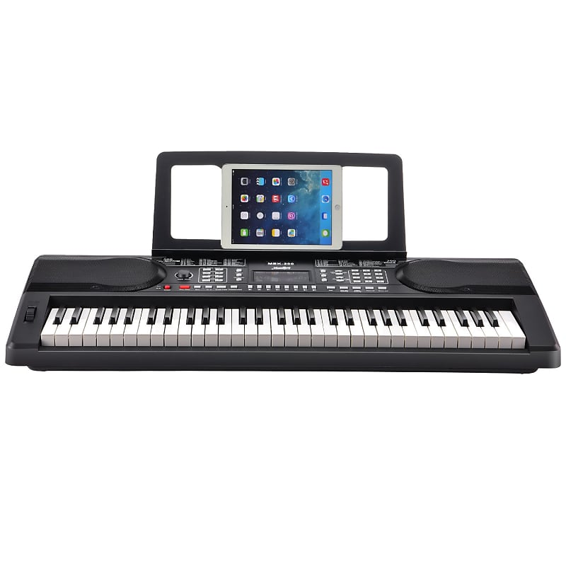 Moukey MEK-200 Electric Keyboard Portable Piano Keyboard Music Kit with  Stand, Bench, Headphone