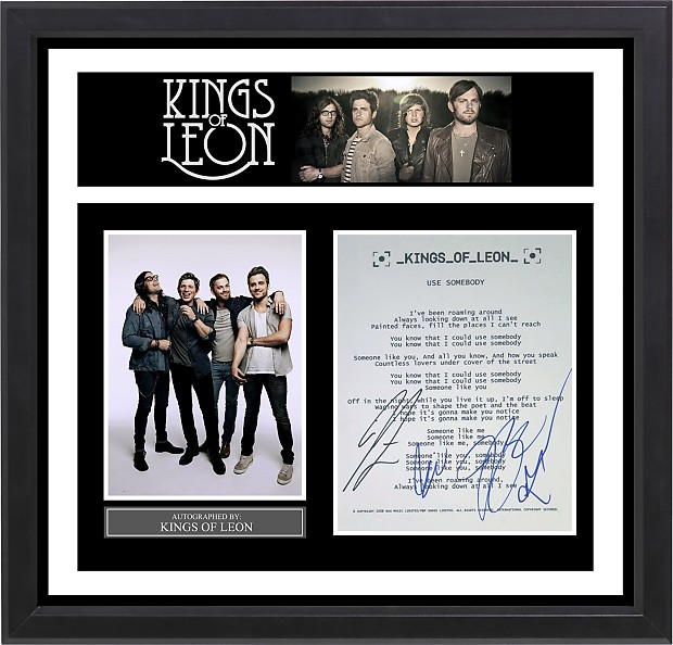 Kings Of Leon Signed Music Lyrics In Photo Collage Frame Reverb