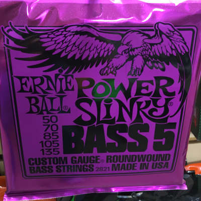 Ernie Ball 2821 Power Slinky 5-String Electric Bass Strings