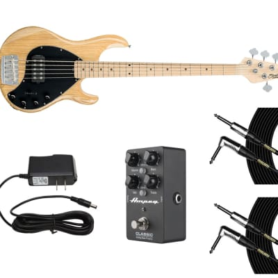 Sterling by Music Man StingRay5 - Ash Nat + Ampeg DI + Power Supply + Cables for sale
