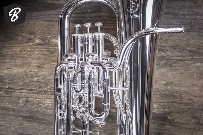 1 BRAND NEW JP374ST STERLING SILVER EUPHONIUM WITH TRIGGER  3