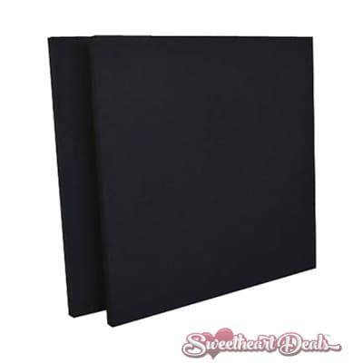 GeerFab Acoustics ProZorber - Pair - Acoustic Panels Black 24x24x1 Soundproofing Sound Treatment