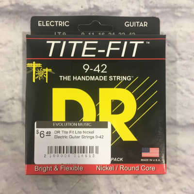 DR Tite Fit Lite Nickel Electric Guitar Strings 9-42