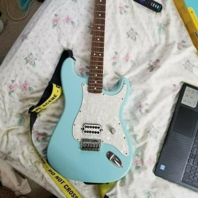 Tom Delonge Fender Stratocaster 2002 Daphne Blue Signature Strat for sale