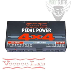 Voodoo Lab PEDAL POWER 4x4 - Audiophile Quality 9 Volt Isolated Supply