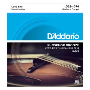 D'Addario J78 Phosphor Bronze Mandocello Strings 22-74
