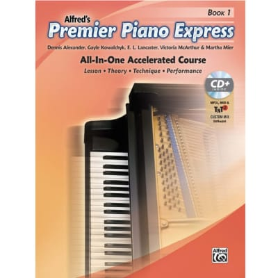 Premier Piano Express: All-In-One Accelerated Course - Book 1 (w/ CD)
