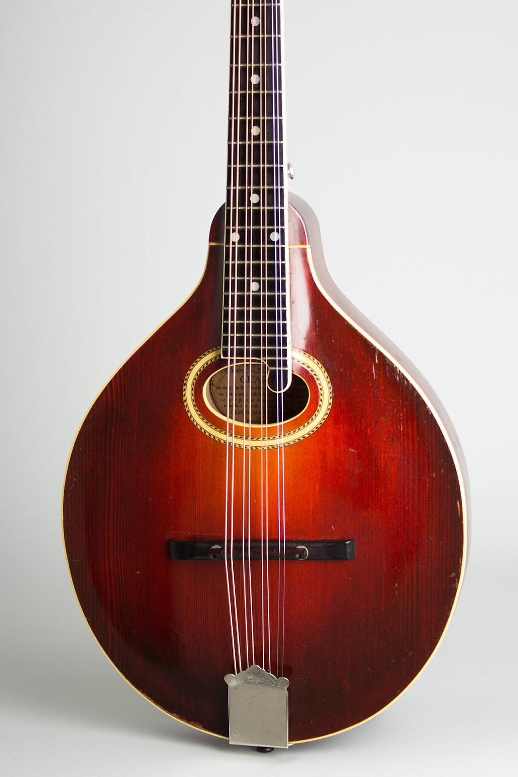 Gibson  H-2 Carved Top Mandola (1914), ser. #32474, original black hard shell case.