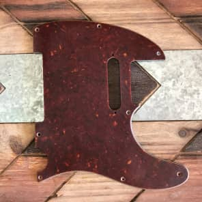Real Life Relics Tele Telecaster Pickguard 3 ply 8 hole w Pickup Mounting Holes Tortoise Aged