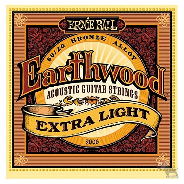 Ernie Ball 2006 Earthwood 80 20 Bronze Extra Light