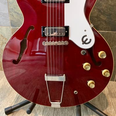Rare Stunning Short Scale 2003 Epiphone Elitist Riviera 12-String in Red Inferno w/OHSC (0175) for sale
