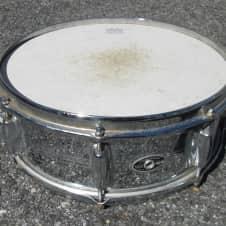 Vintage '60s Slingerland Chrome over Brass Shell Snare Drum ! Good CONDITION