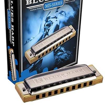 Hohner 532BX-D MS Series Modular Blues Harp Harmonica - Key of D