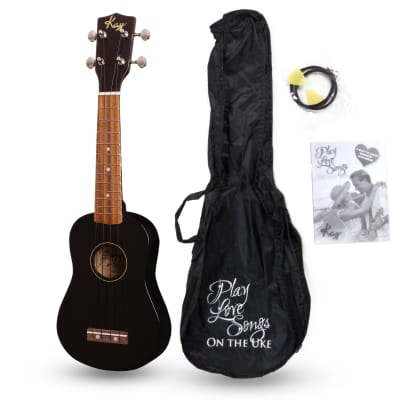 Kay U12PBK Black Soprano Ukulele Package (Free Shipping) for sale