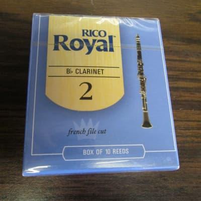 Rico RCB1020 Royal Bb Clarinet Reeds - Strength 2.0 (10-Pack) NOS