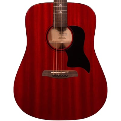 Sawtooth ST-AD-MV-CH Modern Vintage Acoustic Guitar, Transparent Cherry Mahogany for sale