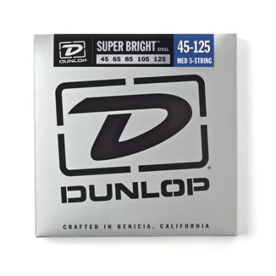 Dunlop DBSBS Super Bright Steel 5 String Bass Strings 45-125