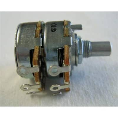 Fender 500K Dual Linear Taper 1/4  Solid-Shaft Potentiometer for Vibro-King Custom, Dual Professional and Prosonic Amplifiers