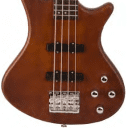 Washburn T24BRK, Natural, Mahogany Body Bass w/ Gig Bag, Authorized Dlr, Free Shipping (Blem)