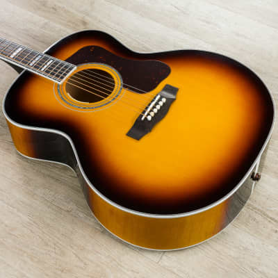 Guild F-55E Maple Acoustic Electric Guitar, Sitka Spruce Top, Antique Sunburst