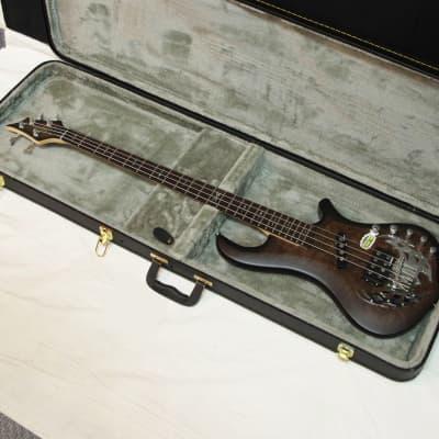 TRABEN Array Attack 4-string BASS guitar Black Burl w/ CASE - Rockfield Pickups for sale