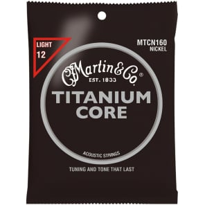 Martin MTCN160 Titanium Core Nickel Acoustic Guitar Strings - Light
