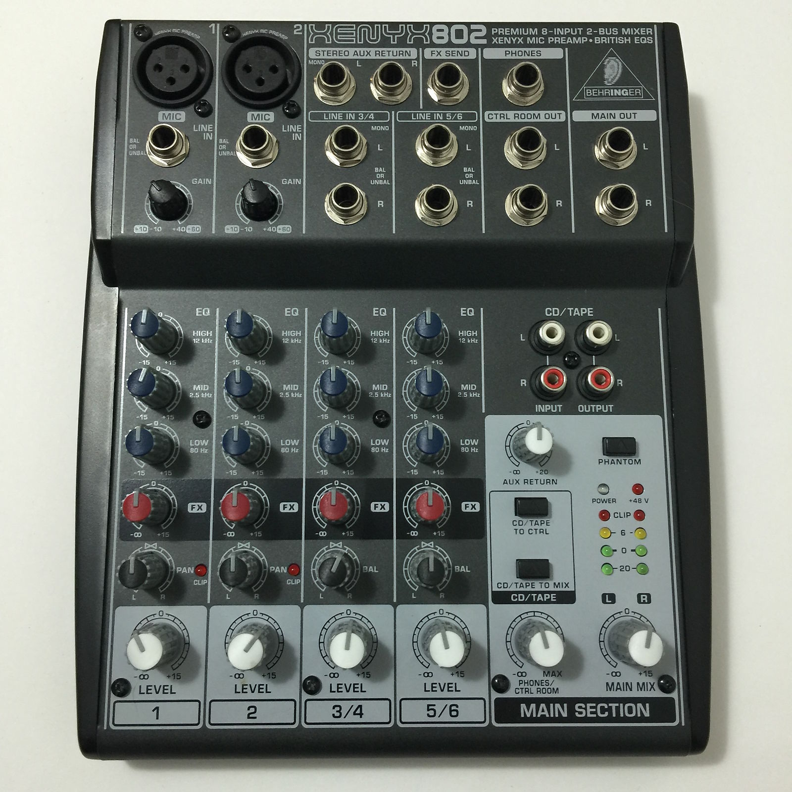 behringer 802 8 input 2 bus mixer xenyx eq reverb. Black Bedroom Furniture Sets. Home Design Ideas