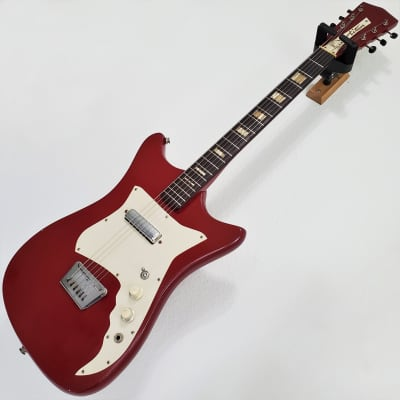 1963 Alamo Titan Mark I Cherry Semi-Hollow USA American Boutique Vintage 2595 Electric Guitar for sale