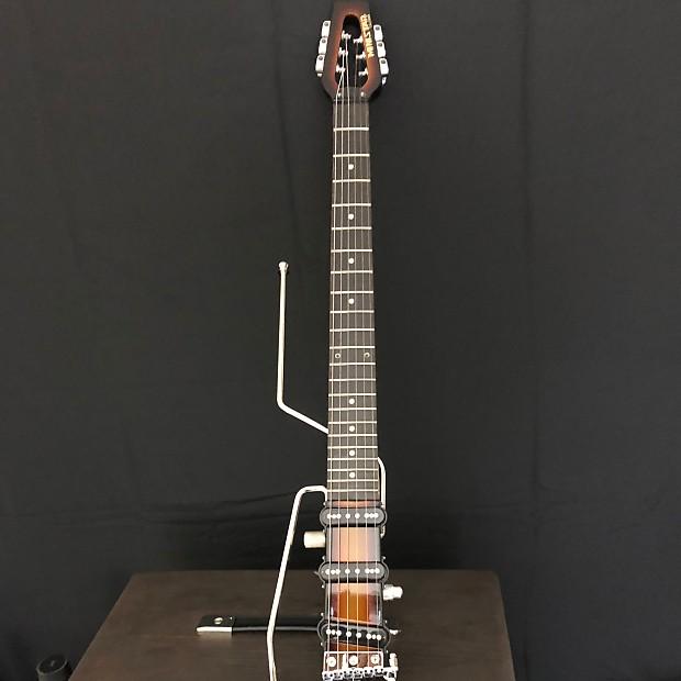 ministar castar travel guitar with built in amp w gig bag reverb. Black Bedroom Furniture Sets. Home Design Ideas