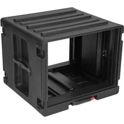 SKB 8RU Space Stack with Roto Rolling Rack, Wheels and Handle, Waterproof
