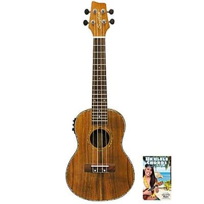 Sawtooth Koa/Acacia Concert-Electric Ukulele with Preamp & Quick Start Guide, Natural Satin for sale