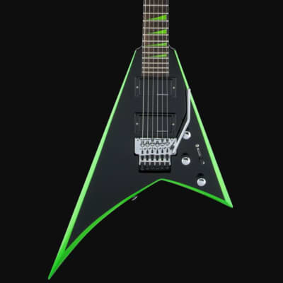 Jackson X Series RR24 Randy Rhoads Signature Floyd Rose Black with Neon Green Bevels for sale