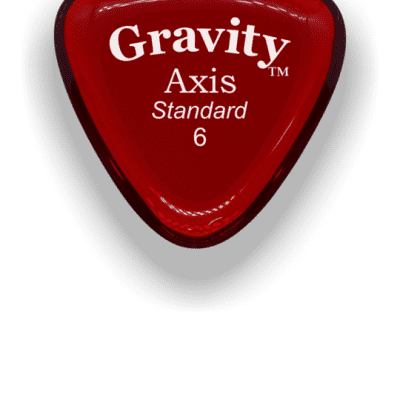 Gravity Picks Axis Standard 6mm Red Acrylic <GAXS6P>