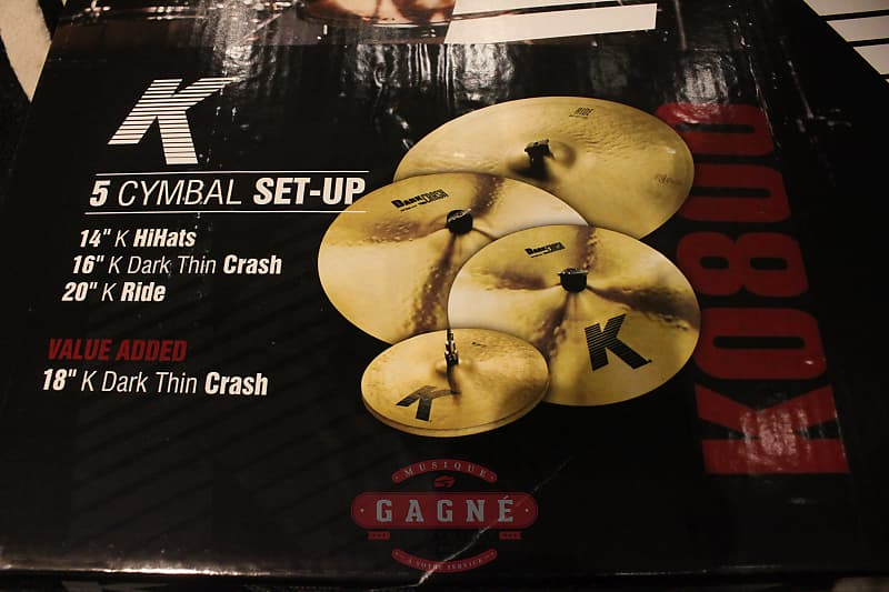 zildjian k pack k0800 cymbal box set 14hh 16c 18c 20r reverb. Black Bedroom Furniture Sets. Home Design Ideas