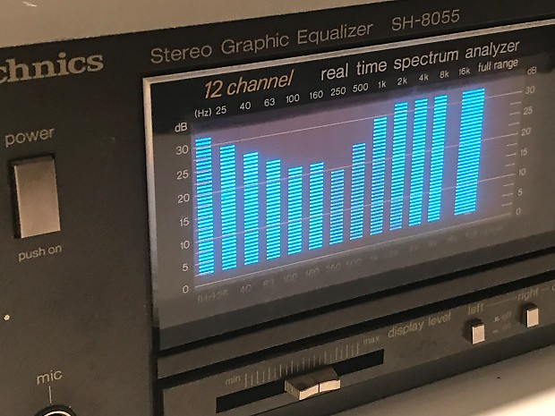Technics SH-8055 Stereo 12 band Graphic Equalizer Spectrum Analyzer vintage  audio hi-fi