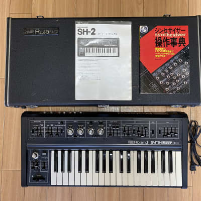 Roland SH-2, Osc Sync mod installed, serviced and calibrated, hardcase + manuals !