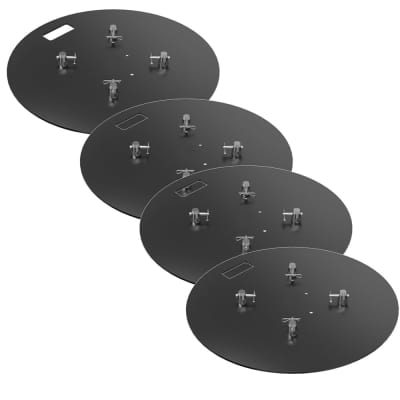 Global Truss 28x28R Round Steel Base Plate-4 PACK