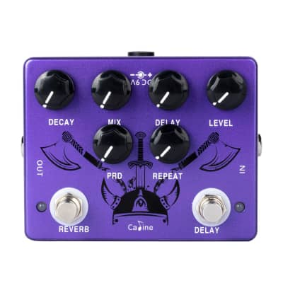 Caline CP-80 Reverb Delay Pedal Purple Repeat Electric Guitar Effect Pedal