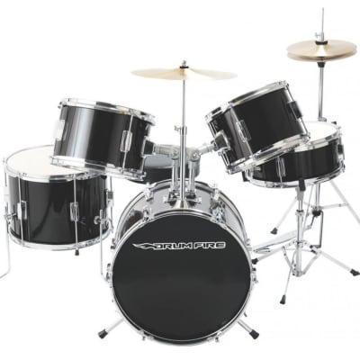 Open Box On-Stage DKJ5500-GB Gloss Black Drum Set