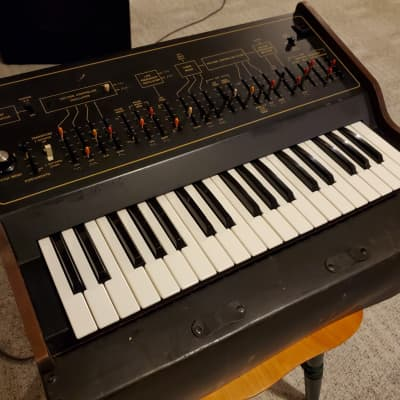 ARP Axxe - wood sides Black Control Face w multi-color slider caps - Free Hard Shell Case