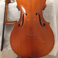 Broken William Lewis and Son 3/4 size German cello, needs repair