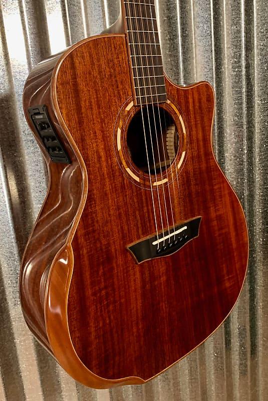 washburn comfort series g55sce koa acoustic electric guitar reverb. Black Bedroom Furniture Sets. Home Design Ideas