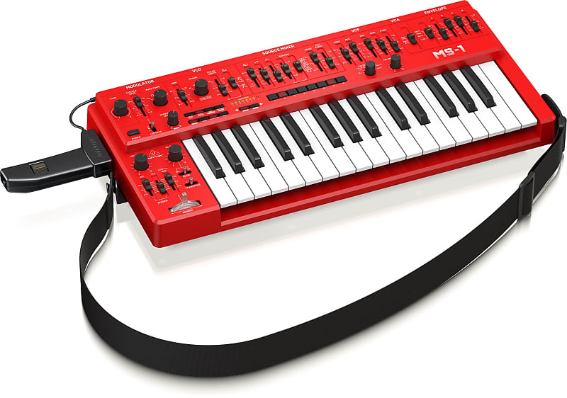 Behringer MS-1 32-Key Analog Synthesizer Red