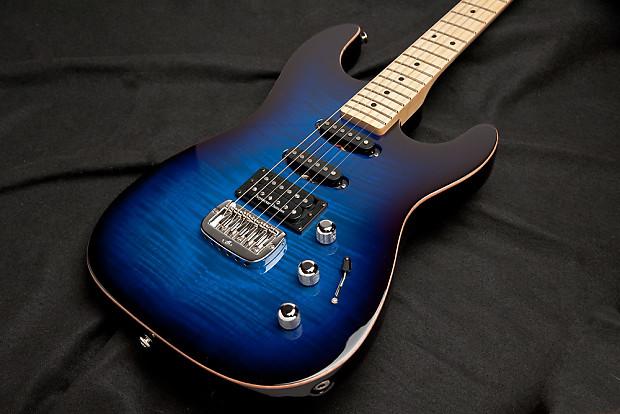 G&L Legacy Deluxe Blue Burst Hardtail | UpFront Guitars LLC