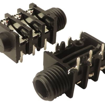 "Fender 0053450049 1/4"" 6-Pin Stereo Input Jack (2-Pack)"