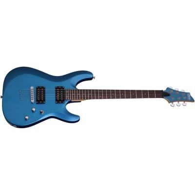 Schecter C-6 Deluxe, Satin Metallic Light Blue for sale