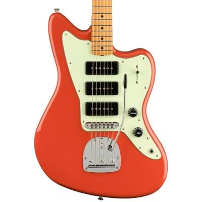 Fender Noventa Jazzmaster Electric Guitar (Fiesta Red, Maple Fretboard) for sale