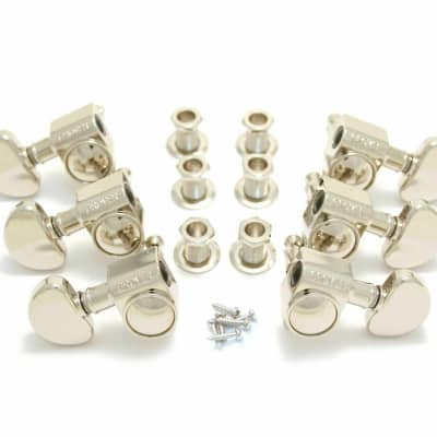 Grover 102-18N Rotomatic Tuners 3 +3 Nickel Finish