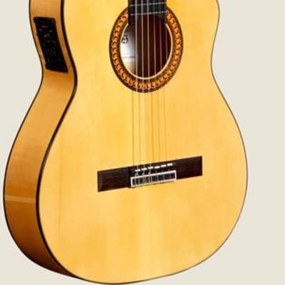 Guitare Electro-Classique Flamenca Camps CUT-500-S CL-BL Épicéa Massif for sale